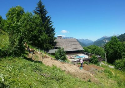 Création d'un potager en permaculture pour l'auberge de jeunesse de la Clusaz